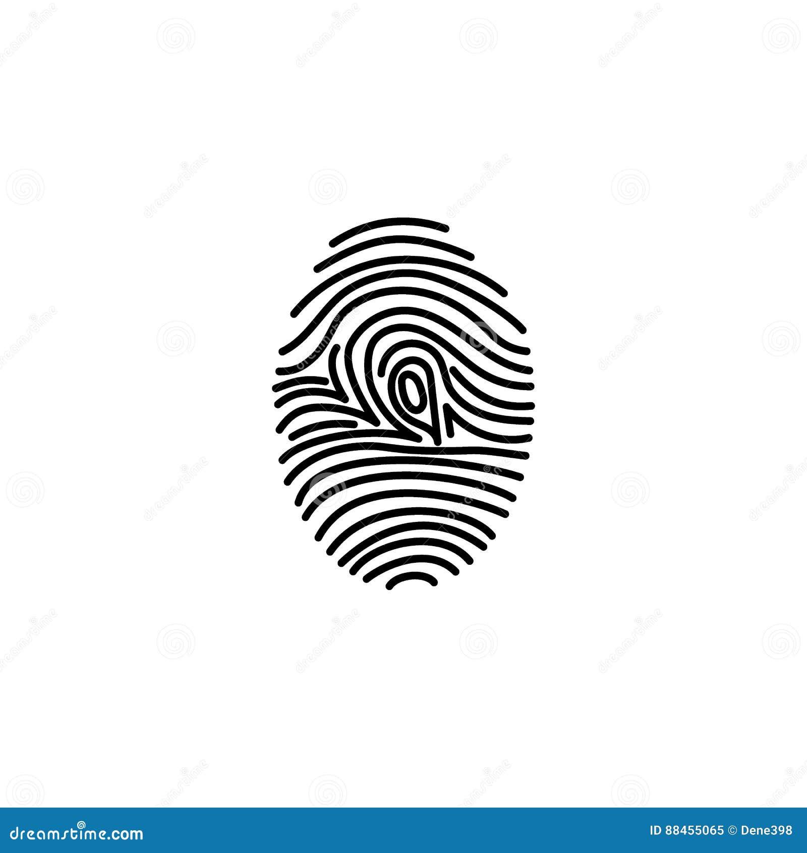 Identificazione dell icona dell impronta digitale