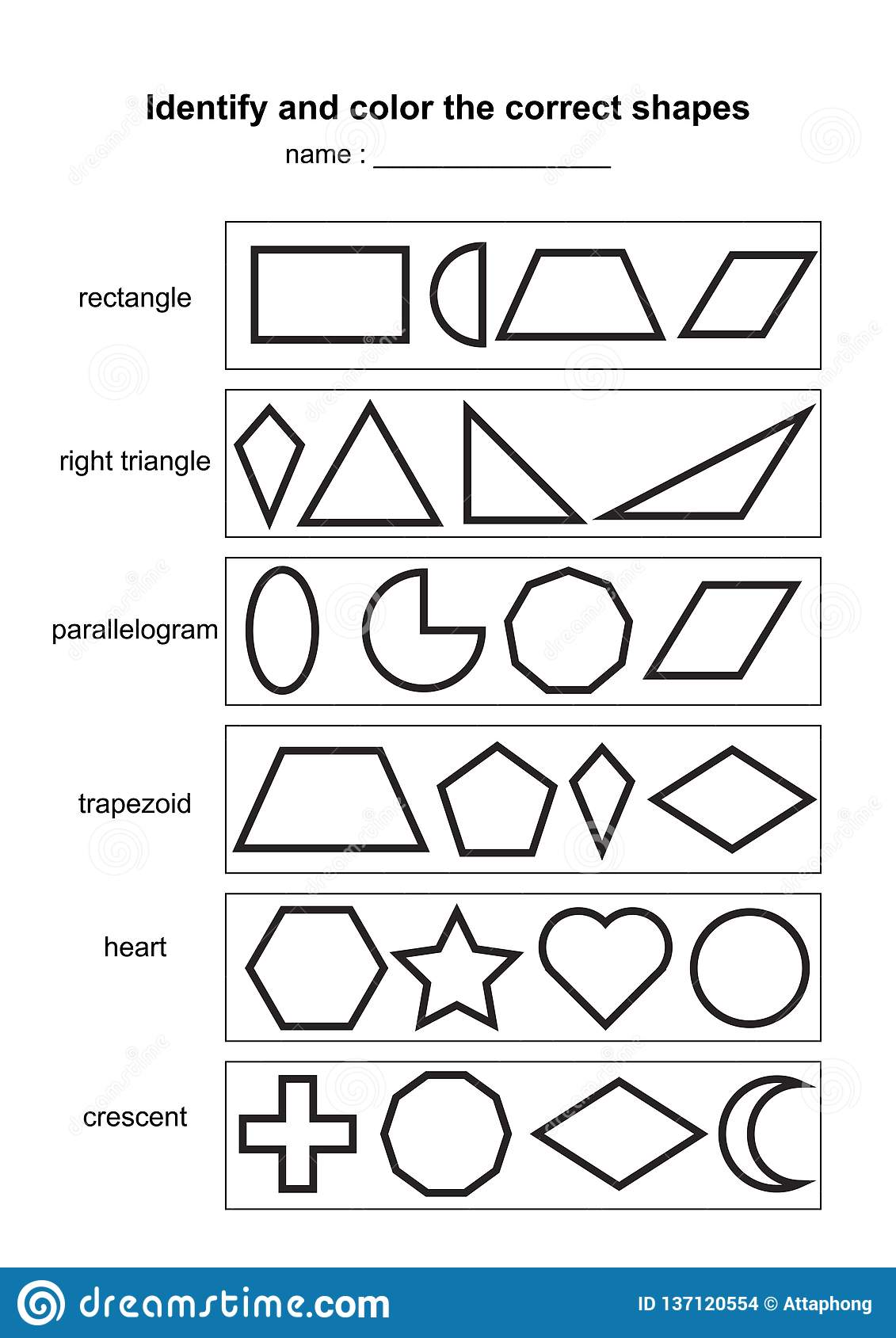 image about Printable Geometric Shapes titled Understand And Shade The Proper Styles. Enlightening Geometric