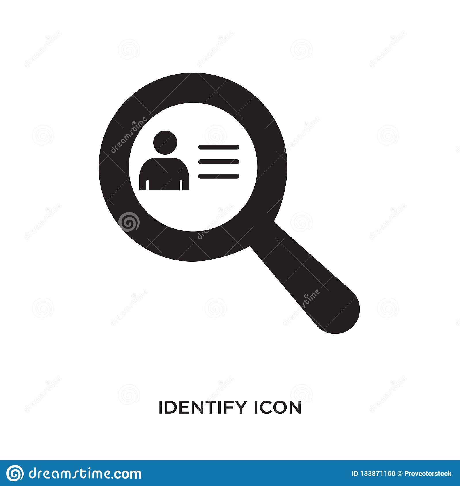 Identify icon stock vector. Illustration of website
