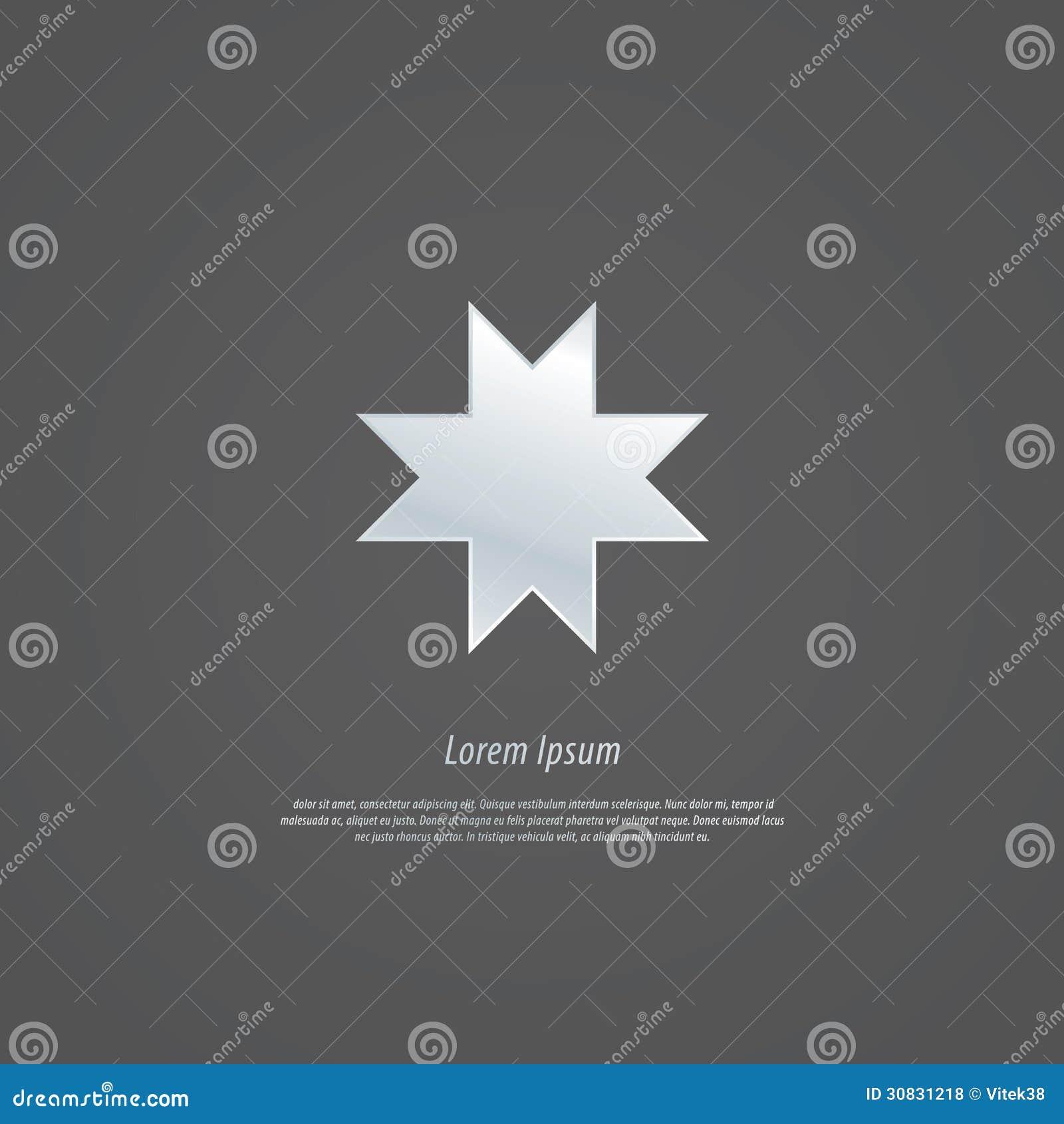 Identità corporativa - quattro coppia il modello di M. Vector delle lettere dentro