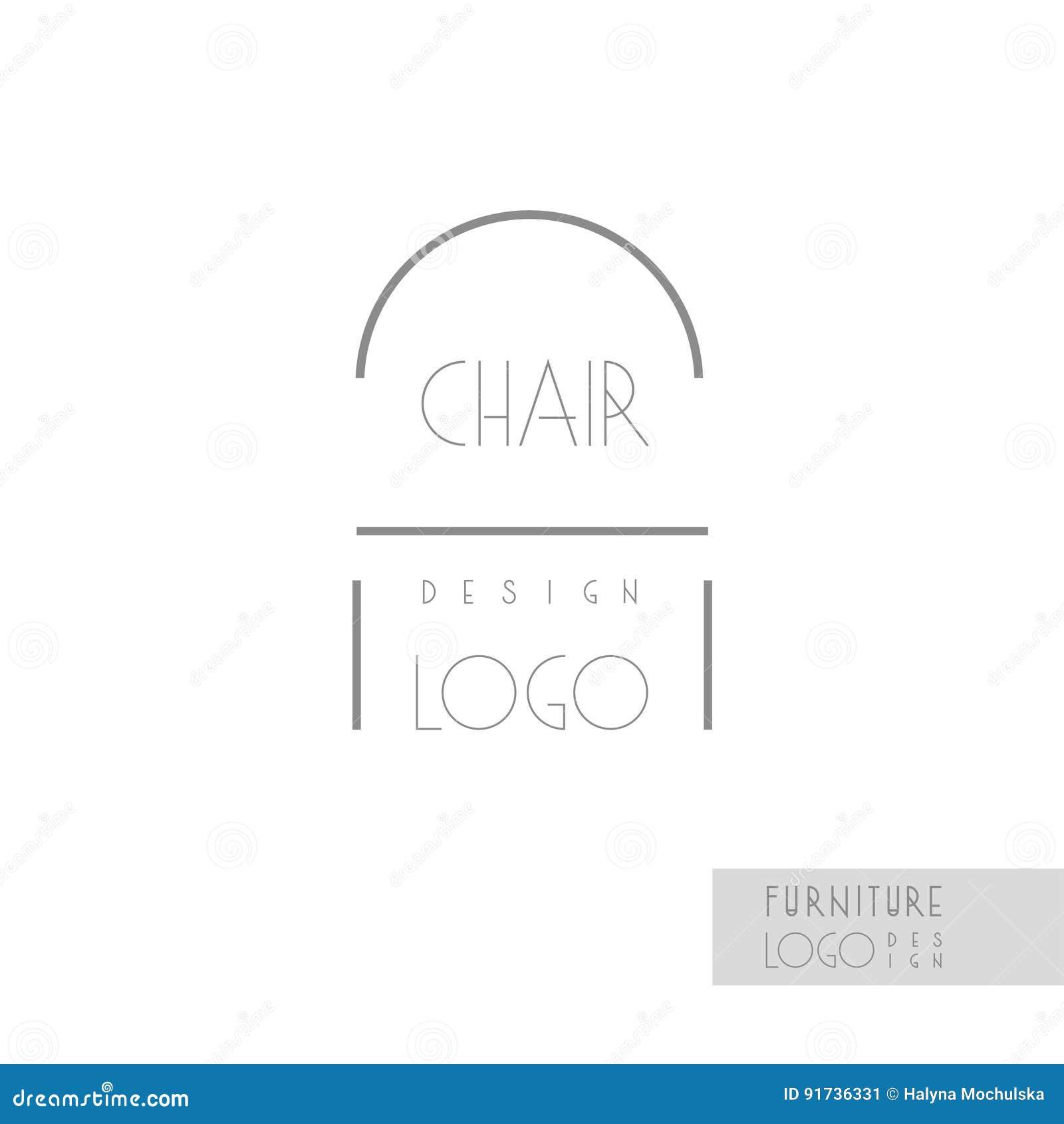 Identit De Marque Dessinateur D Intrieurs Ligne Logo Chaise Calibre Carte Visite