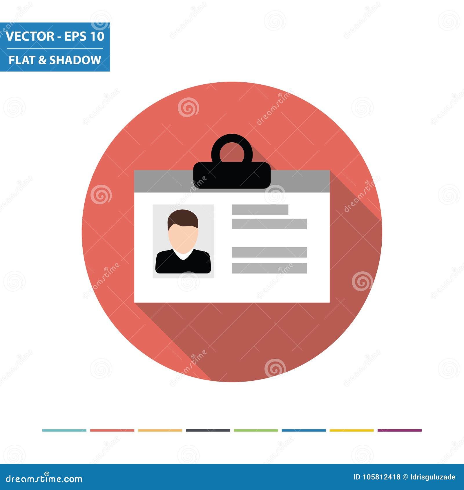 Identiteitskaart vlak pictogram