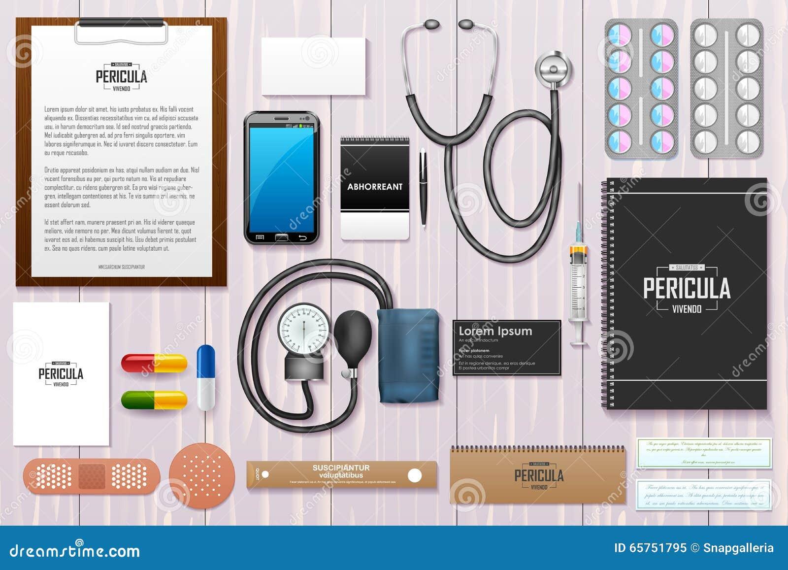 Identity Branding Mockup For Doctor Stock Vector - Image: 65751795