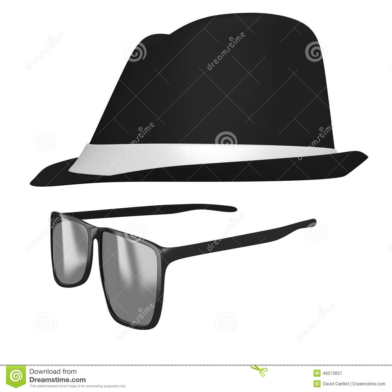 Cartoon Kid In A Glasses And Fedora