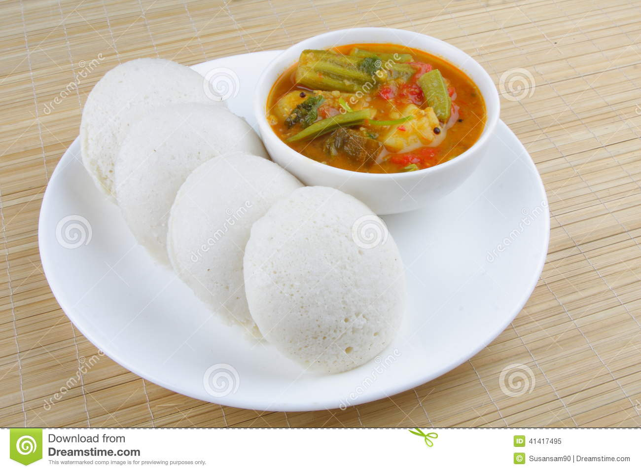 Idly served with sambar stock image image of food for Abhiruchi south north indian cuisine