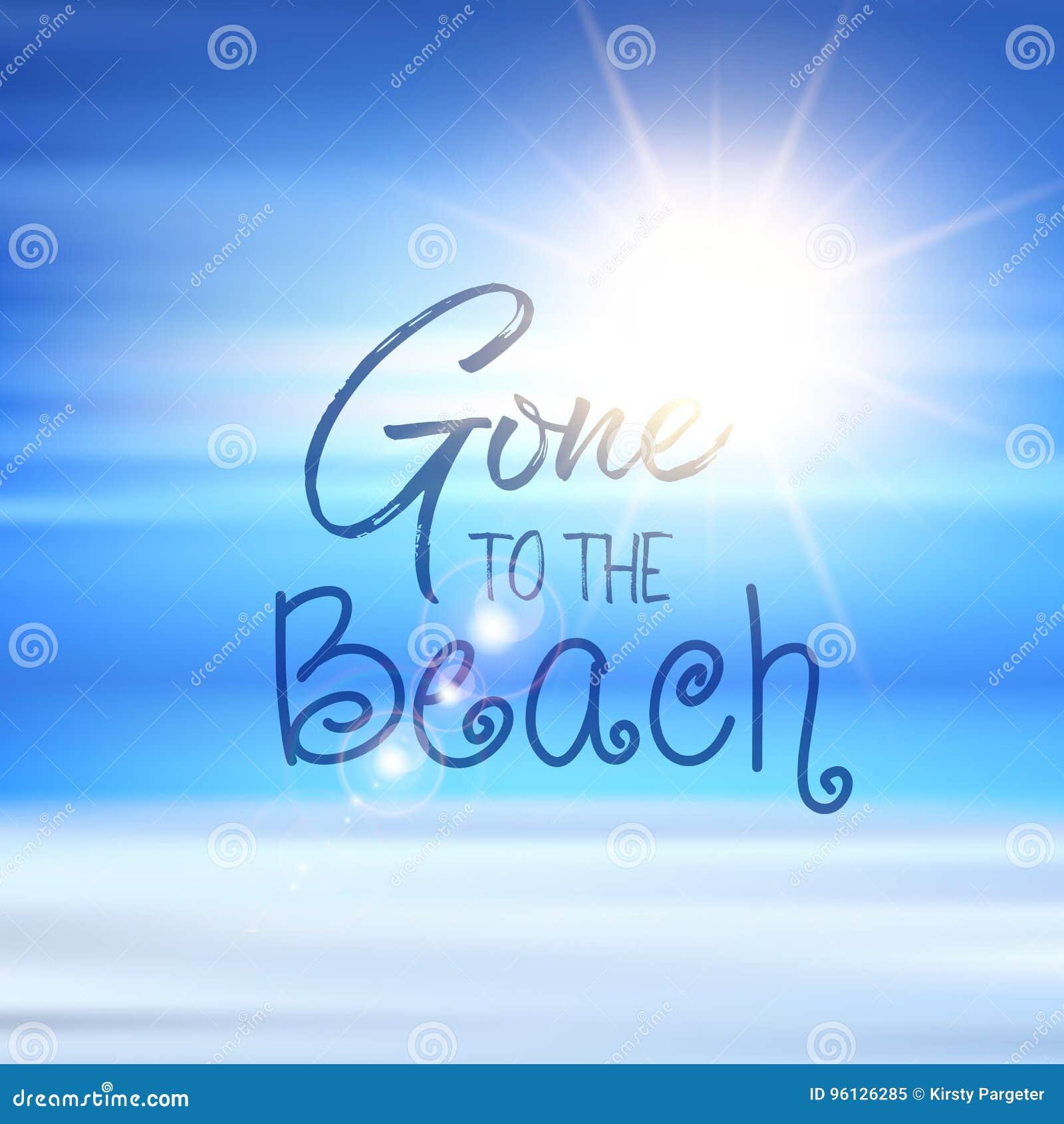 Ido ao fundo das citações da praia