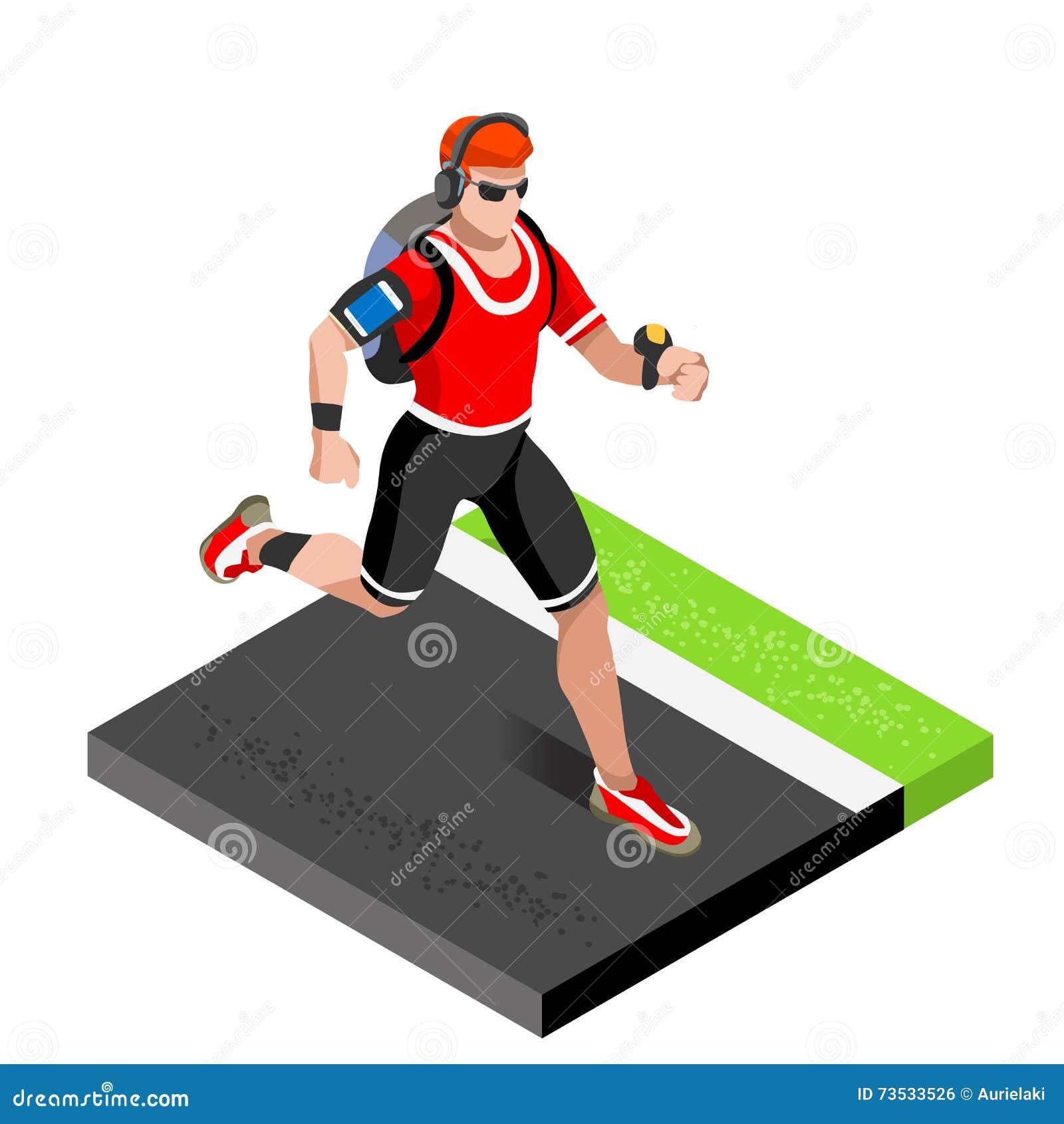 Idrotts- utbildning för maratonlöpare som utarbetar idrottshall Löpare som kör friidrott, springer att utarbeta för internationel