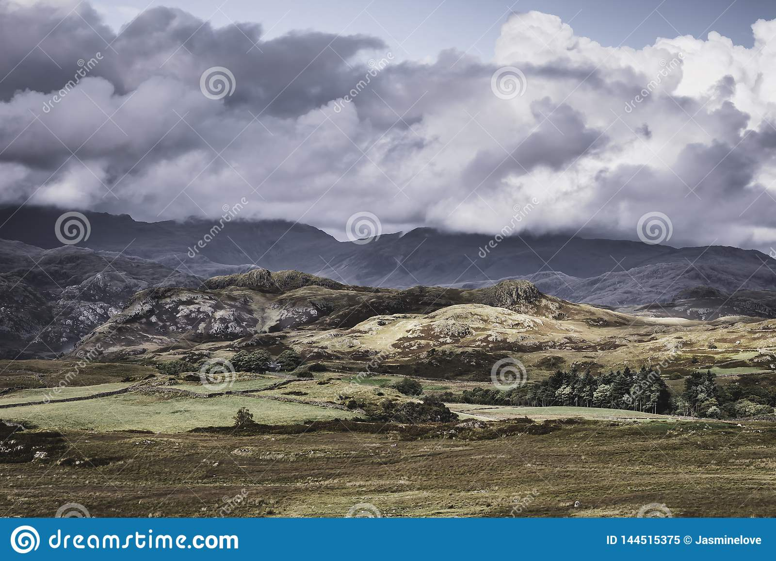 Idyllic landscape of Lake District,Cumbria,Uk