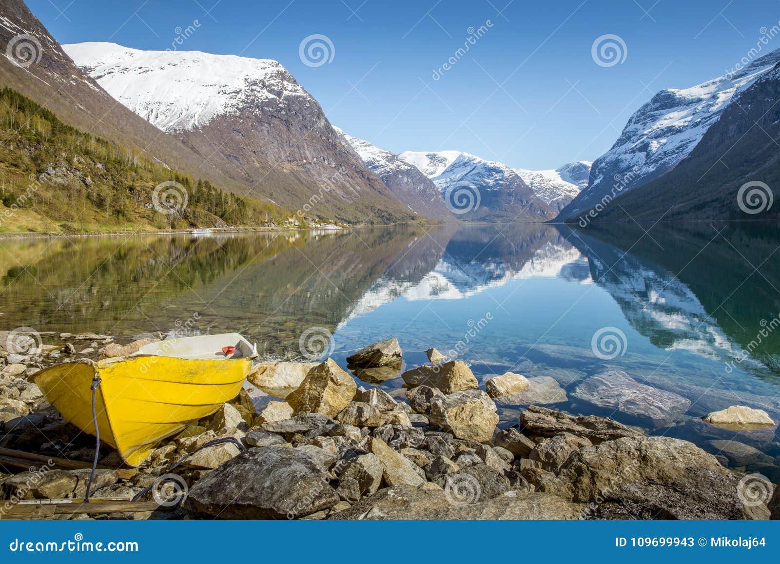 Idyllic norwegian landscape