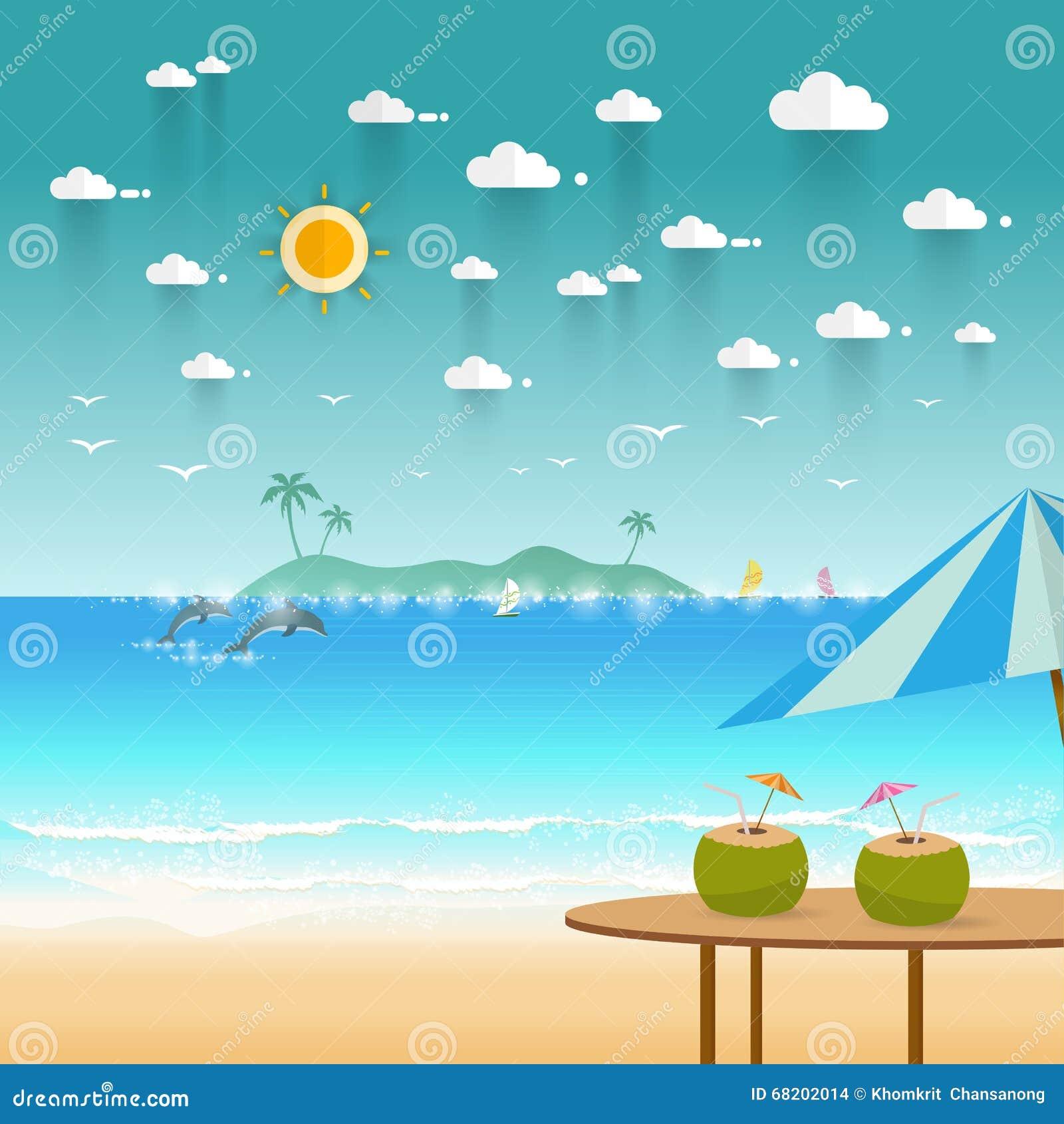 idyllic paradise coast landscape with mountains summer camp vac