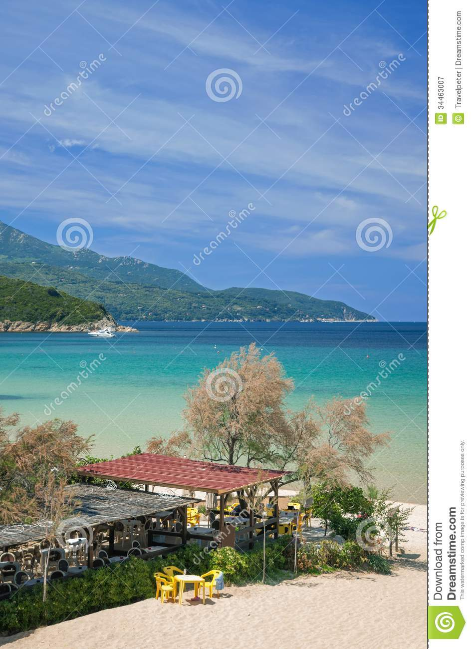 Elba Island Italy  city photos gallery : ... Elba Island with Beach and Beach Bar,Tuscany,mediterranean Sea,Italy