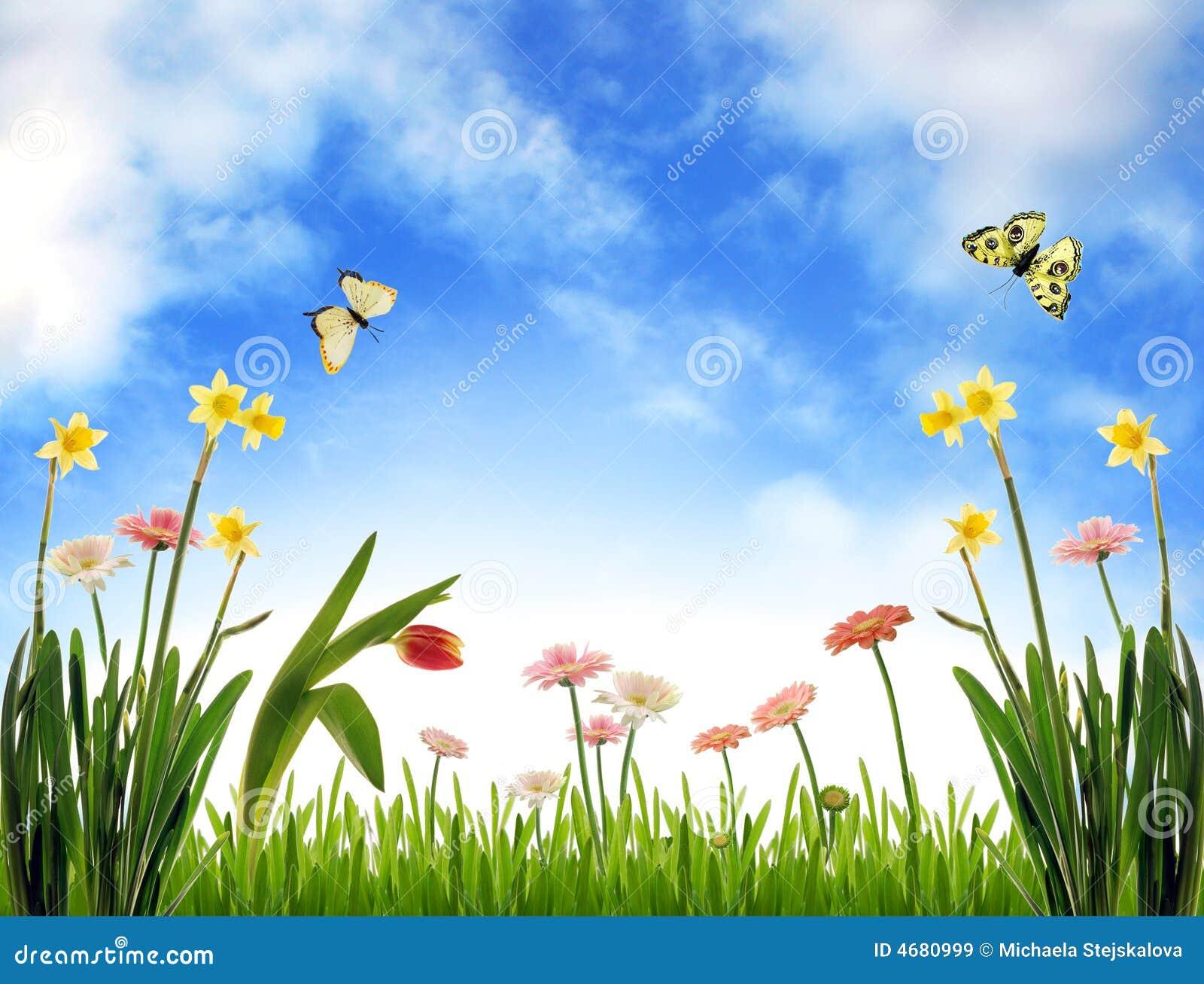 Idyllic spring scenery