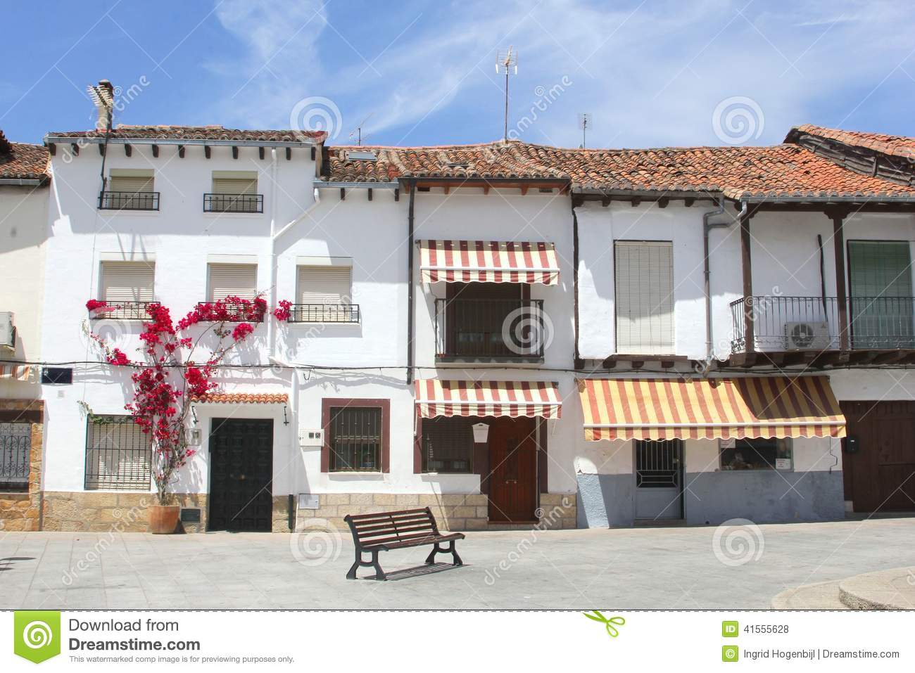 Scenic spanish village in moorish style spain stock photo for Moorish homes