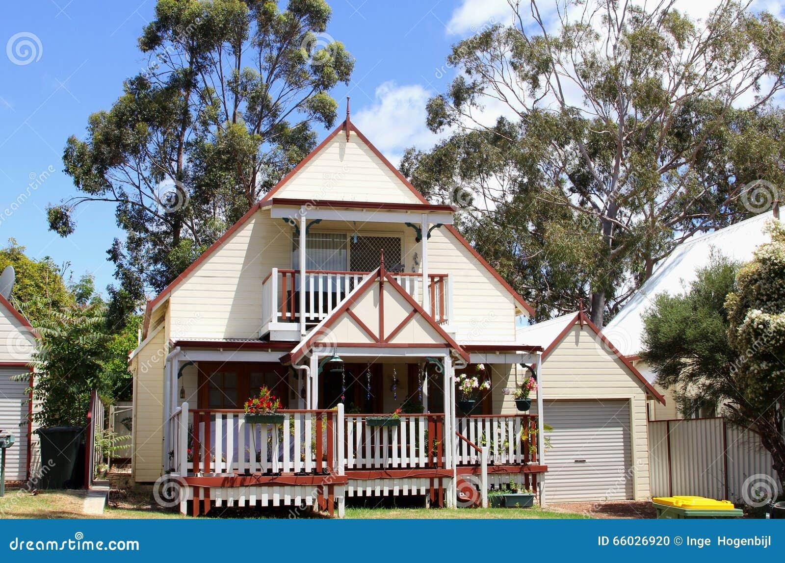 Idyllic wooden house with veranda australia