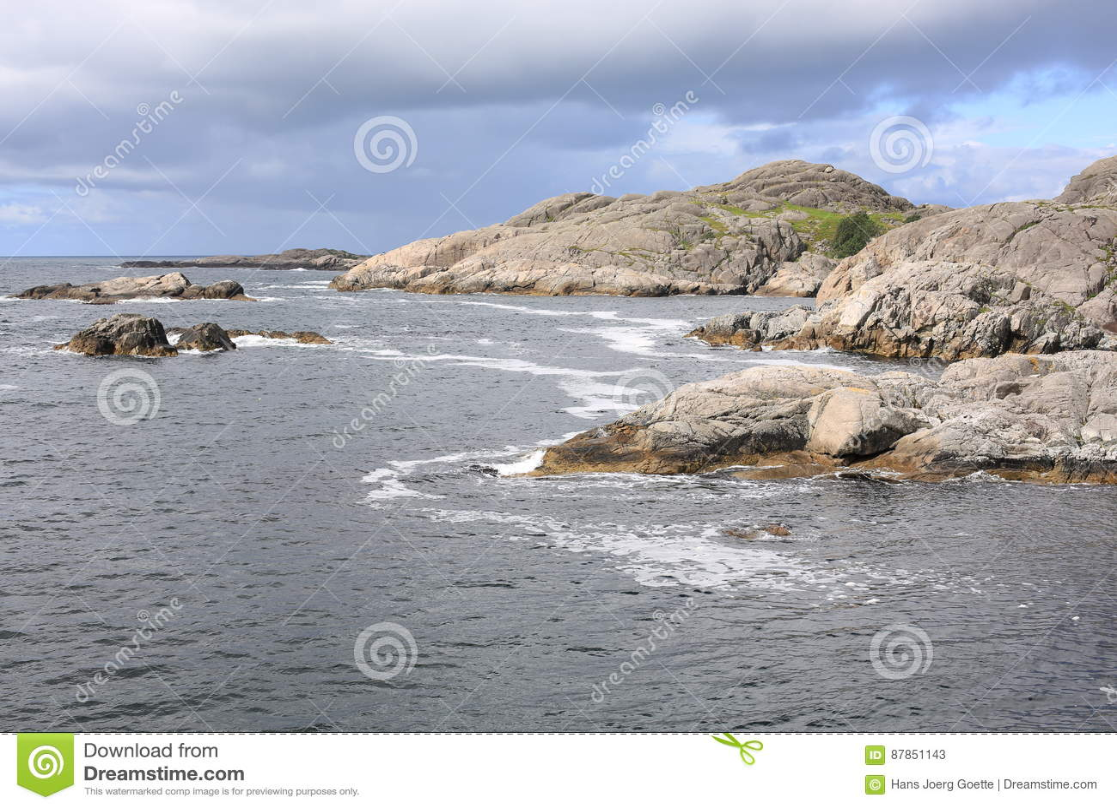 Idylliczny nadmorski w Norwegia