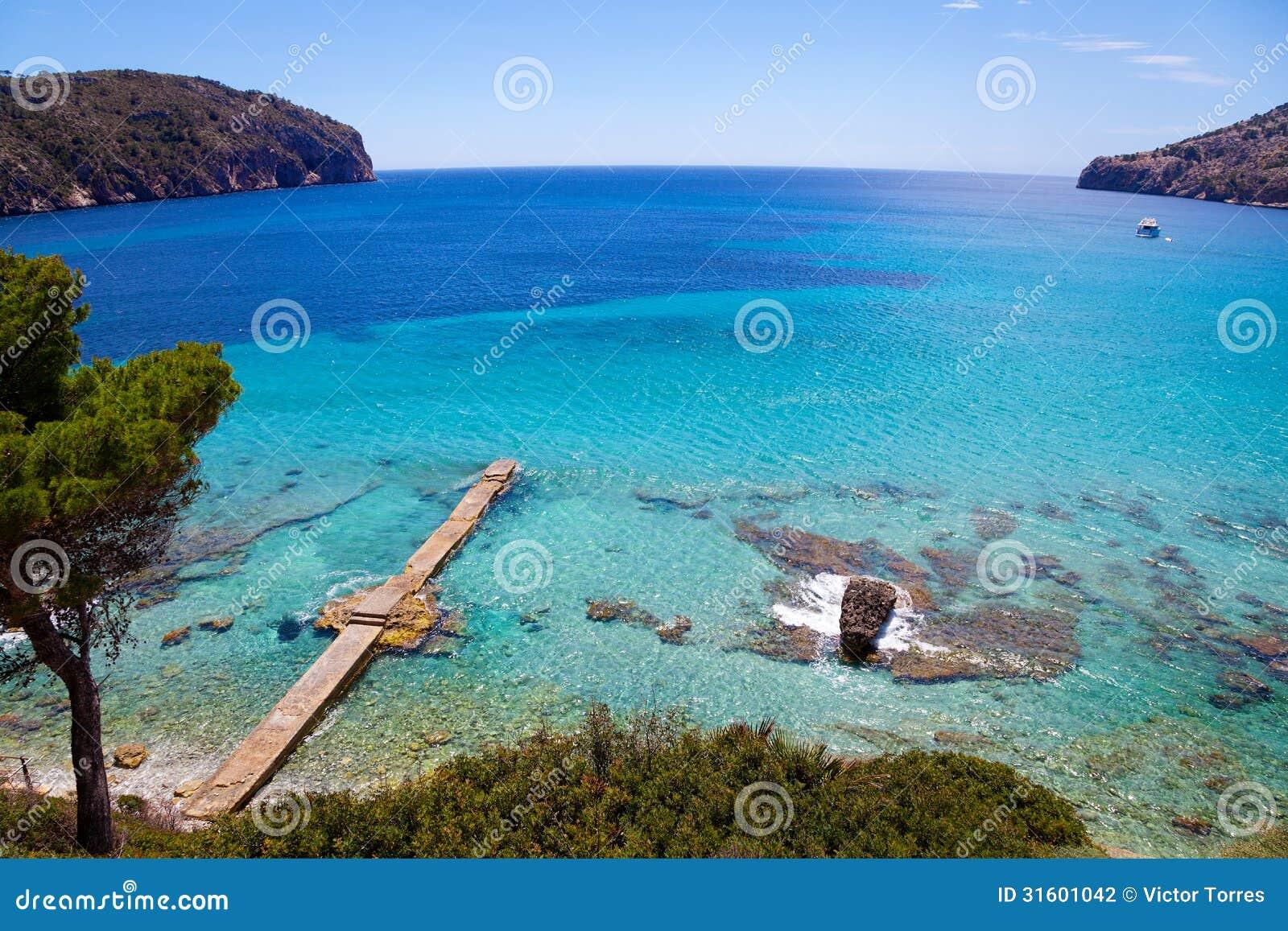 Idylliczny widok w Mallorca wyspie