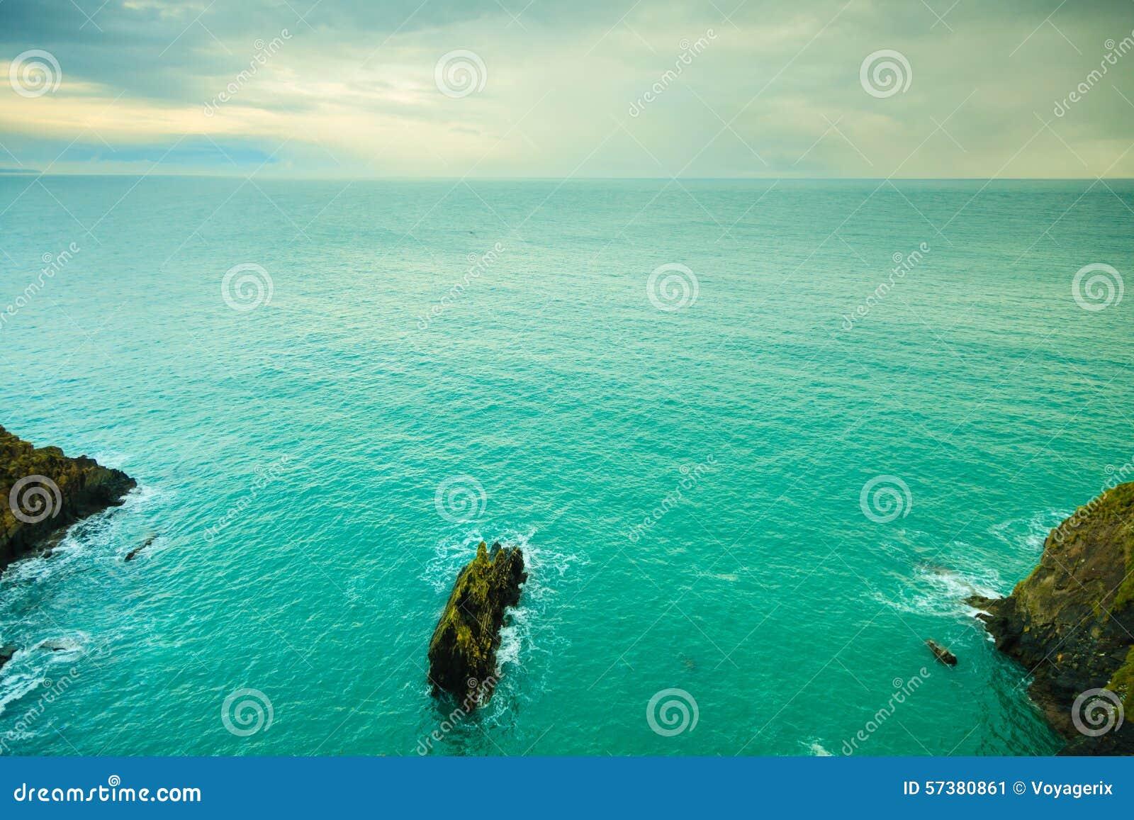Iers landschap De kustlandschap van de kustlijnatlantische oceaan