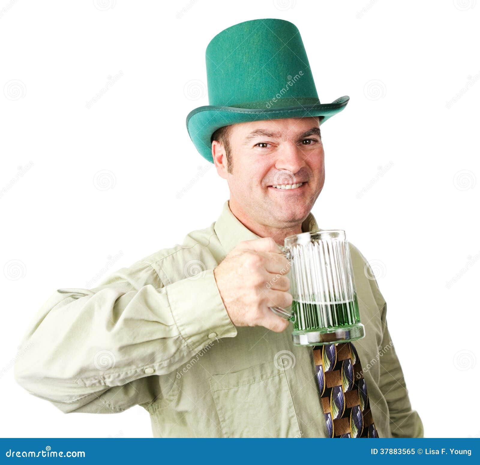 Ierse Amerikaanse Mens op St Patricks Dag