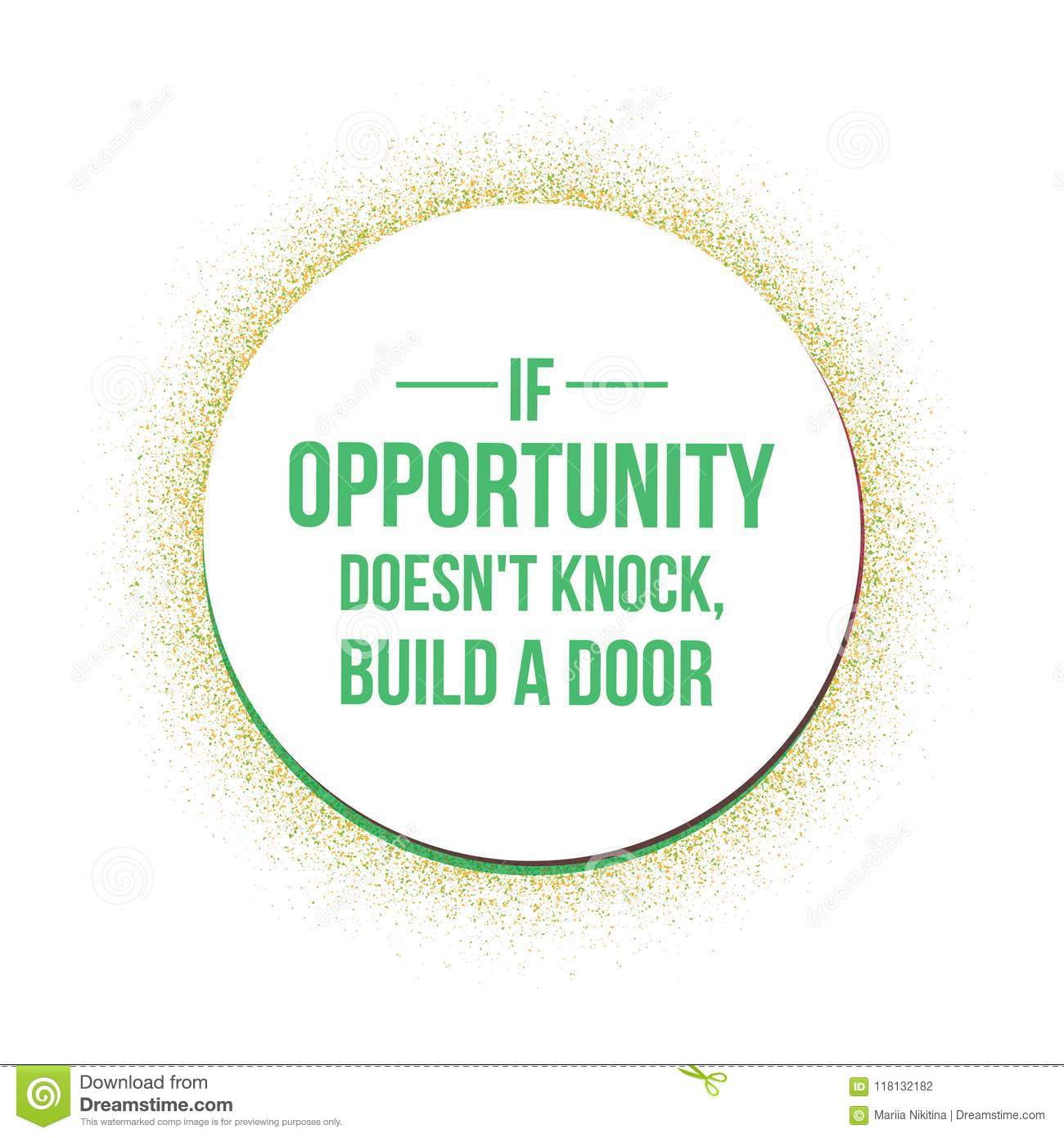 If Opportunity Does Not Knock Quotes Stock Vector Illustration Of