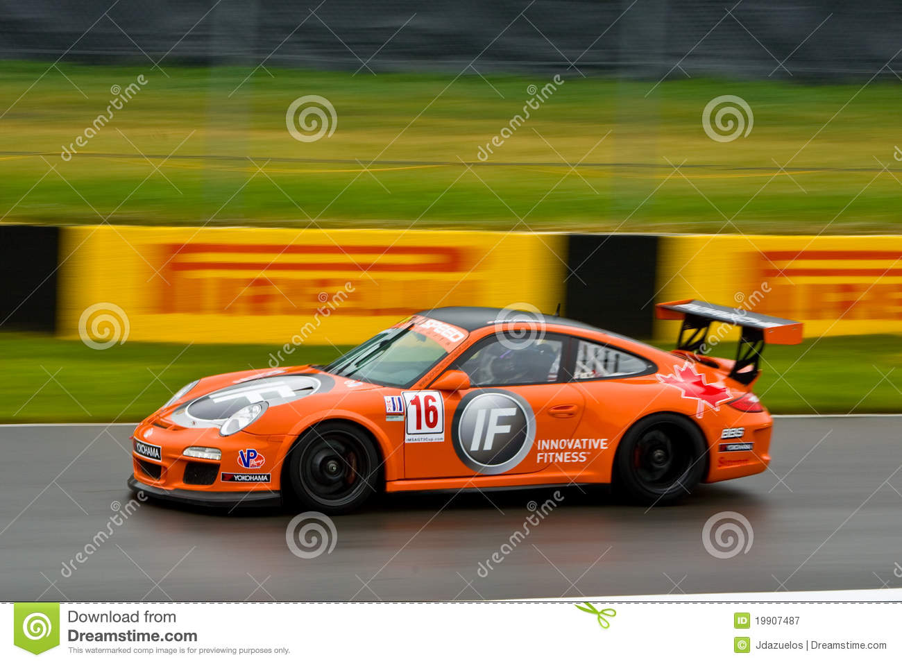 if porsche racing at montreal grand prix editorial photography image 19907487. Black Bedroom Furniture Sets. Home Design Ideas