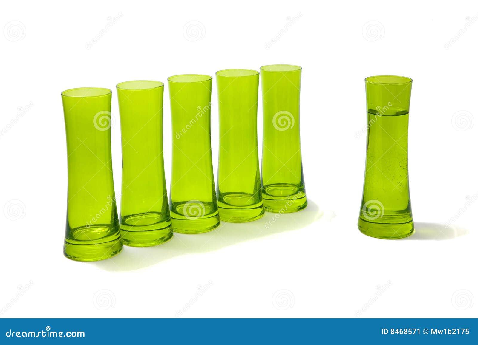 Ifrån varandra grupperar exponeringsglas en dem