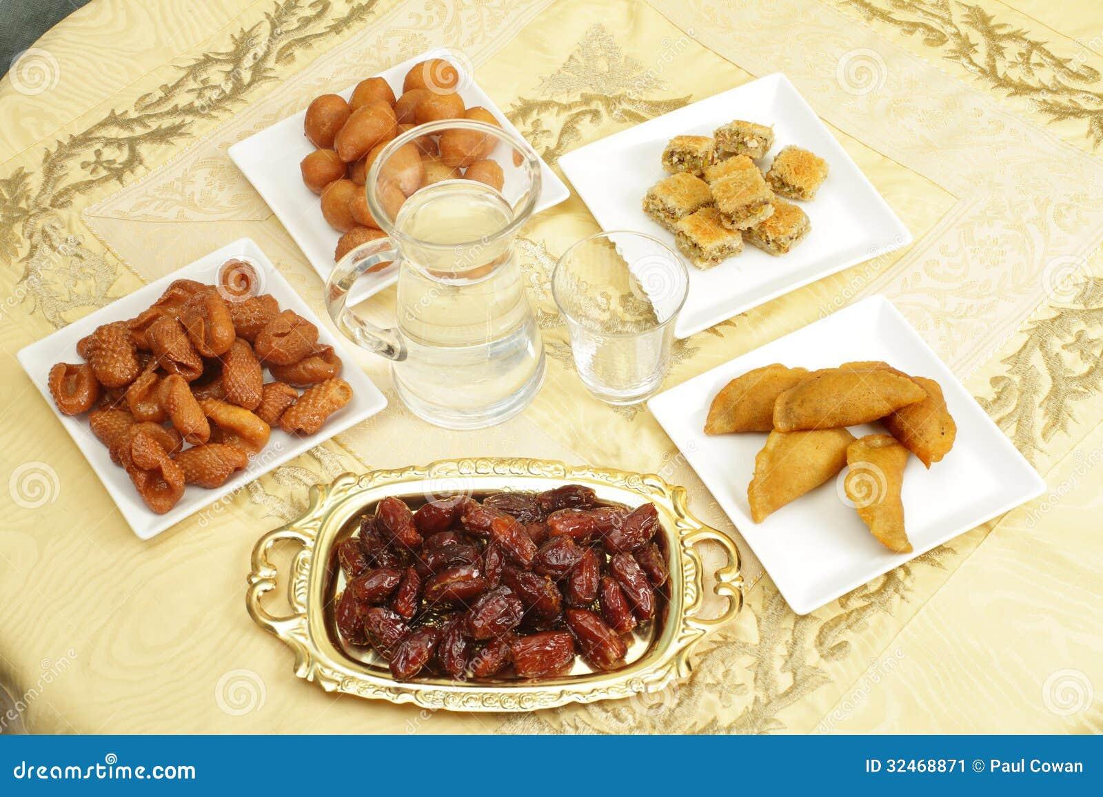 Iftar stół