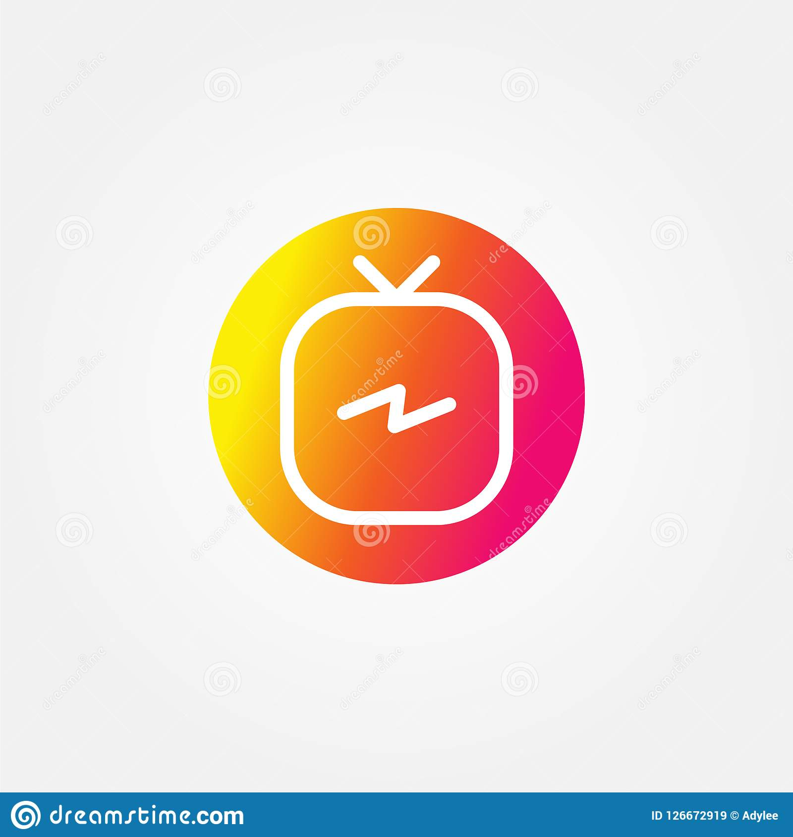 Vector Illustration Instagram: Stock Vector Instagram Tv Logo Editorial Stock Image
