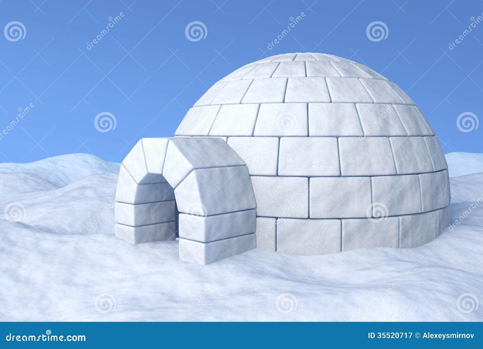 Iglú en nieve