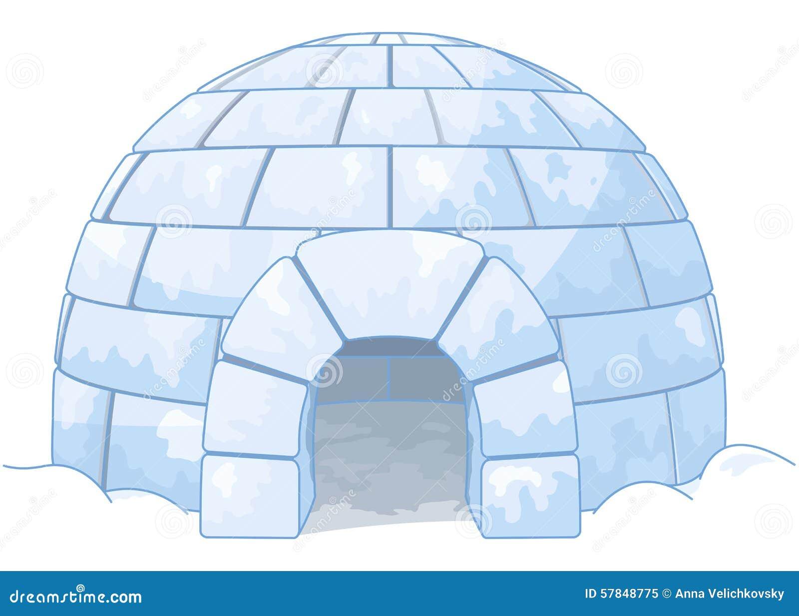 Iglú Ilustración del Vector Imagen: 57848775 #2466A7 1300x1019 Banheiro De Gato Iglu