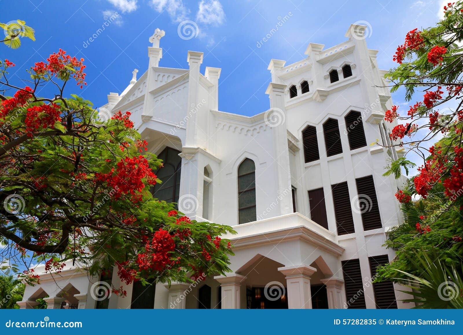Iglesia blanca en Key West, la Florida