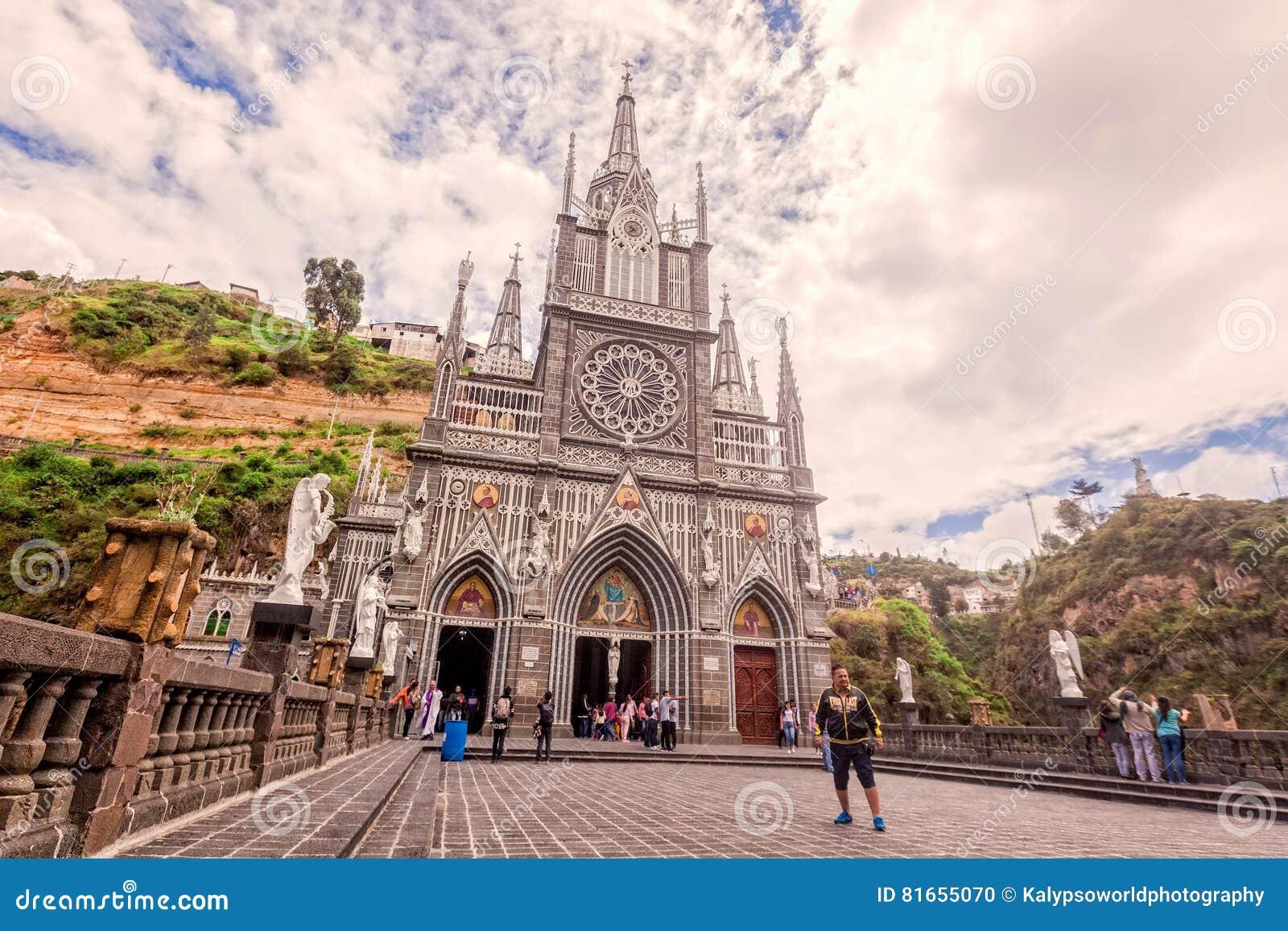 Iglesia católica colombiana de Las Lajas, Ipiales, Colombia