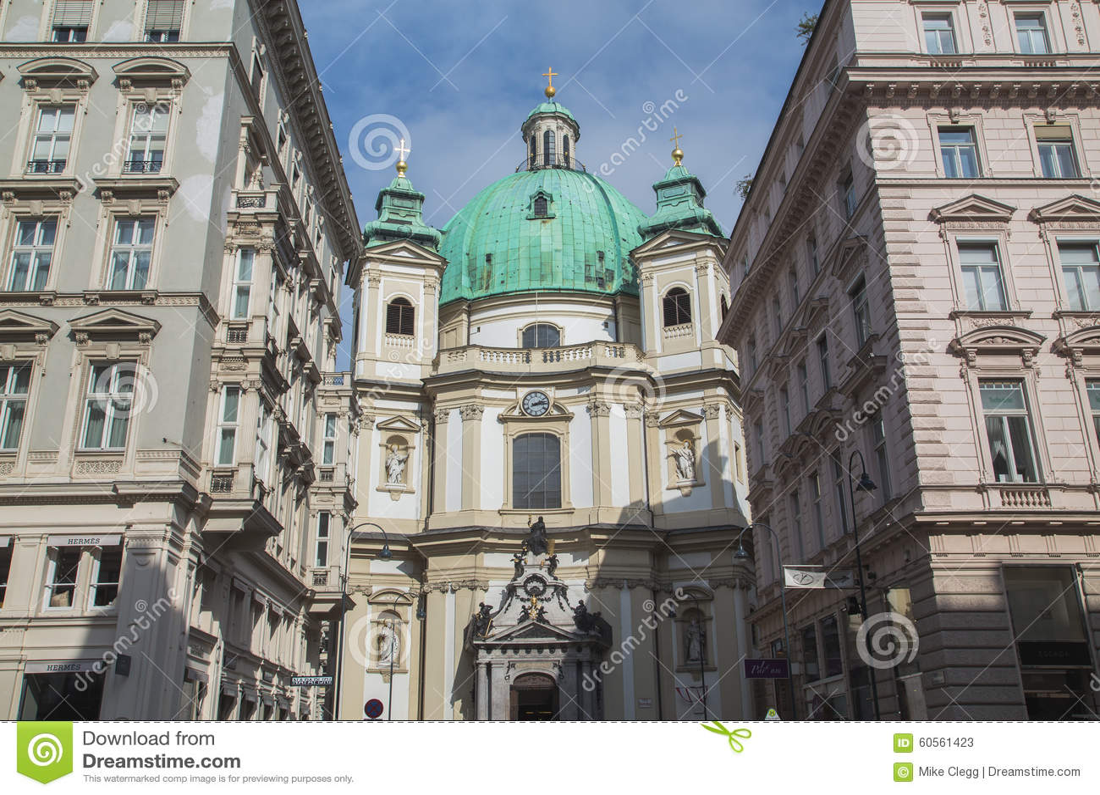 Iglesia Catolica De San Pedro En Viena En Viena Foto De Archivo