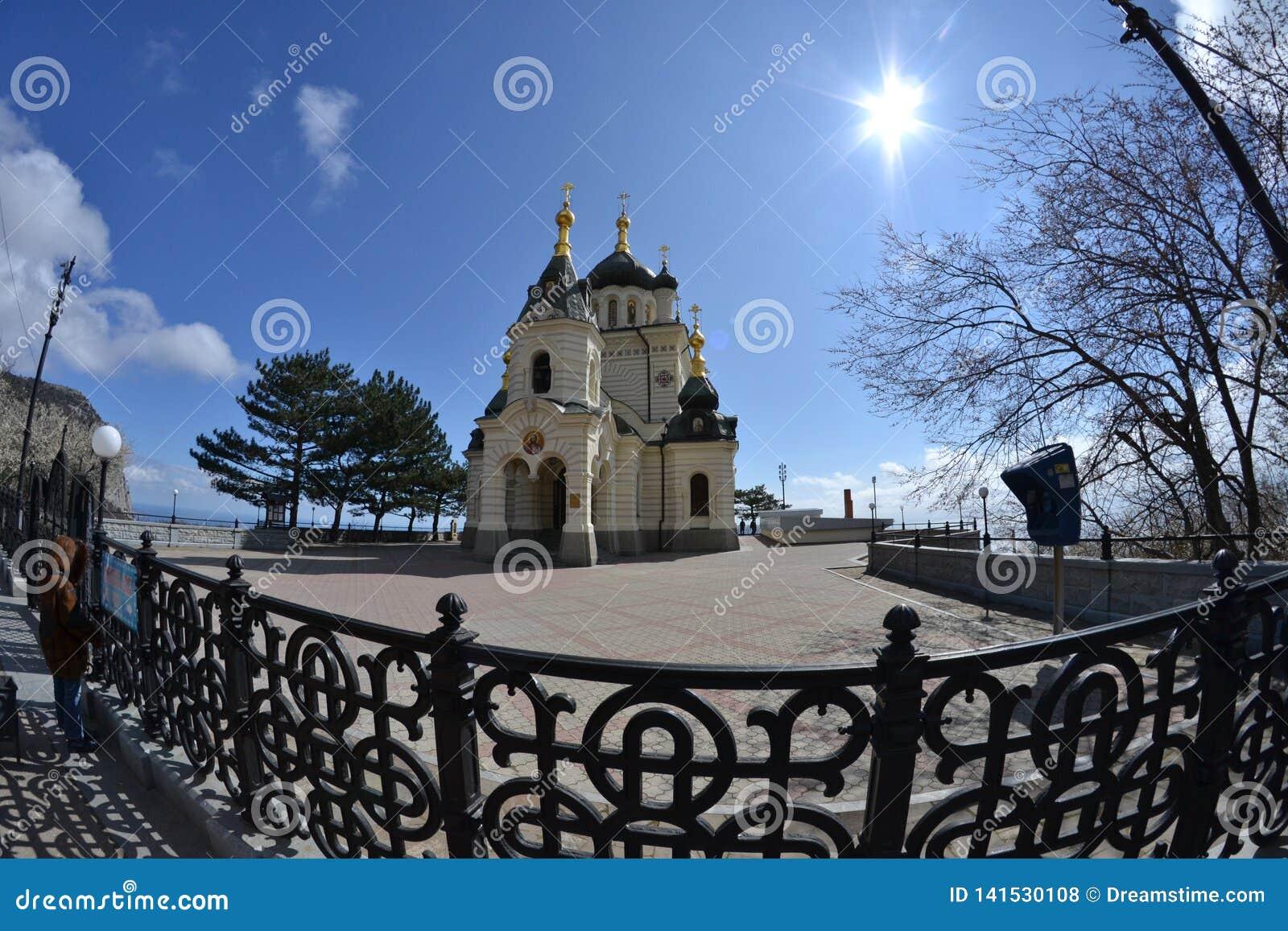 Iglesia cerca del pueblo de Foros crimea
