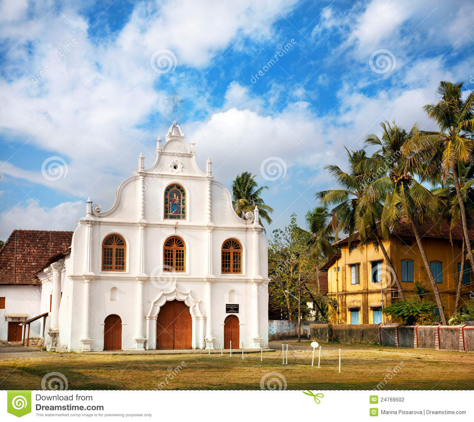 Iglesia colonial portuguesa en Kochi