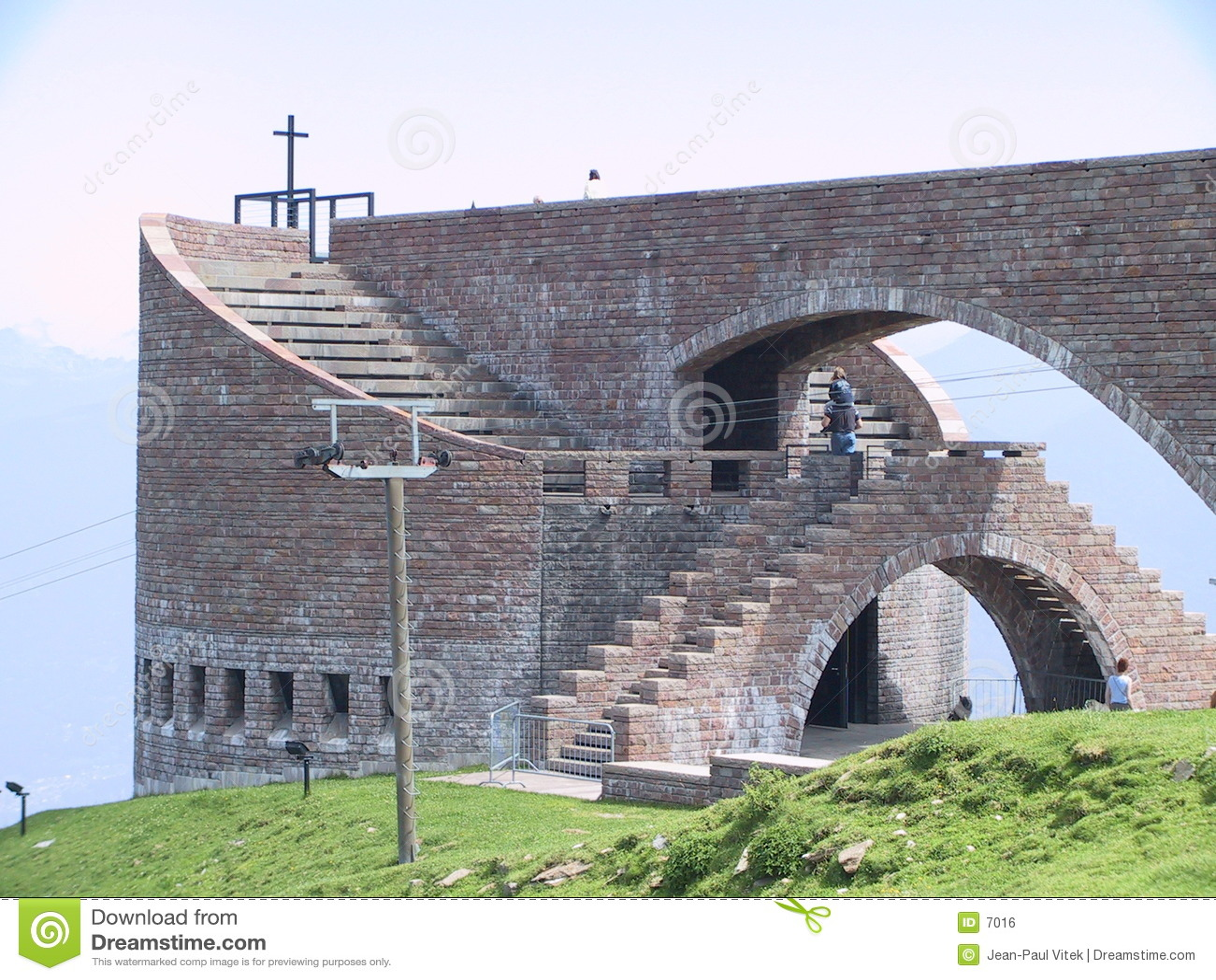 Iglesia de Botta en el TI Suiza de Monte Tamaro