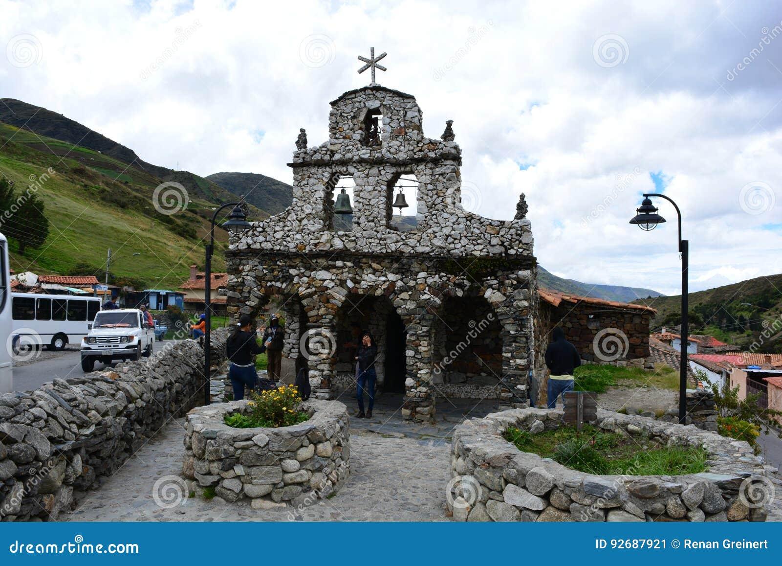 Iglesia de Mucuchies教会在梅里达,委内瑞拉