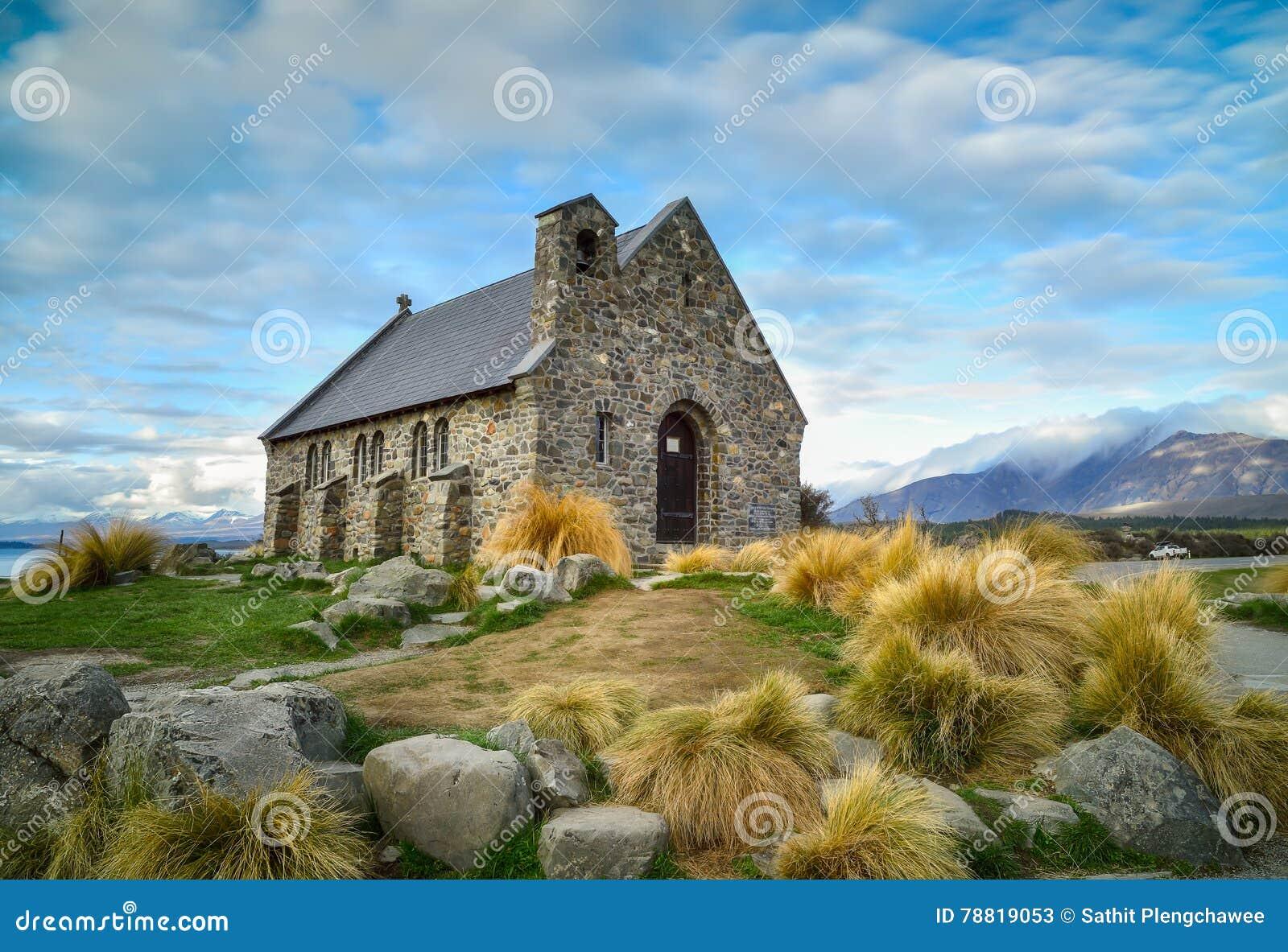 Iglesia del buen pastor construido desde 1935, lago Tekapo, nuevo Z