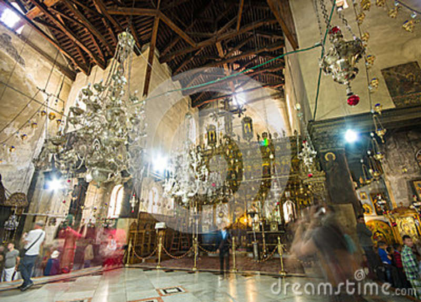Iglesia del interior de la natividad, Belén, Israel