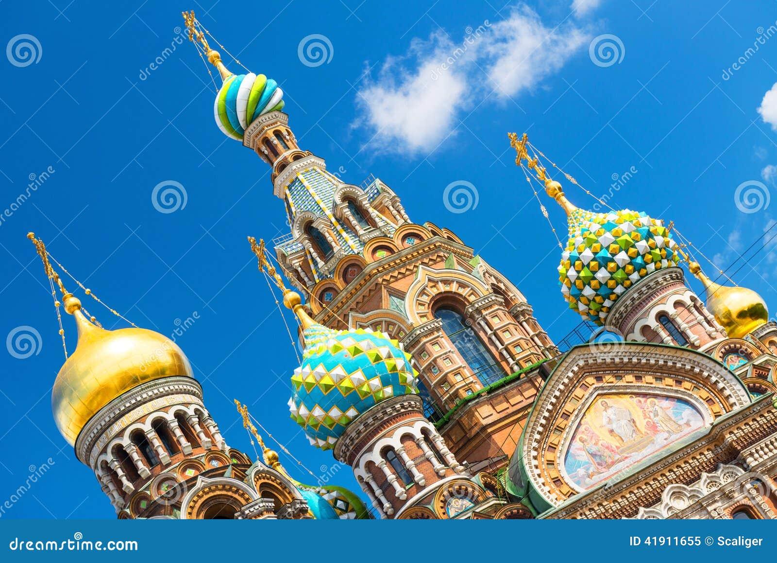 Iglesia del salvador en sangre derramada en St Petersburg, Rusia