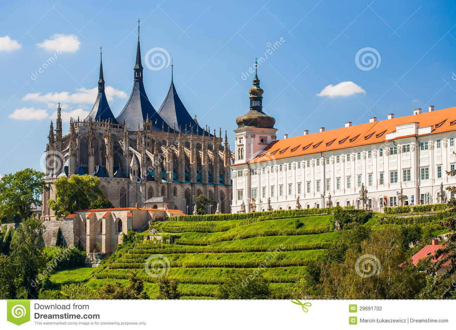 Iglesia del santo Barbara en Kutna Hora, República Checa. LA UNESCO