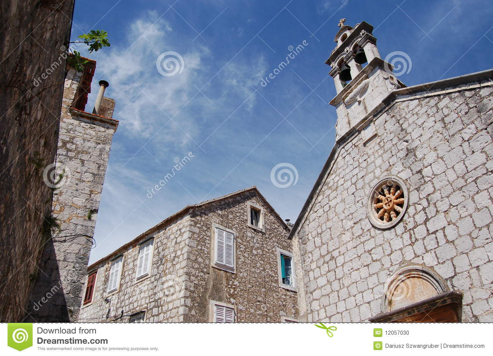Iglesia en Starigrad en la isla de Hvar