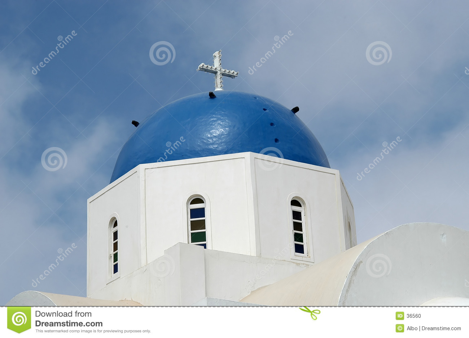 Download Iglesia griega foto de archivo. Imagen de turista, configuración - 36560