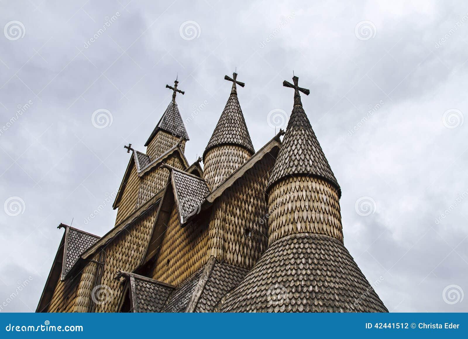 Iglesia Heddal del bastón