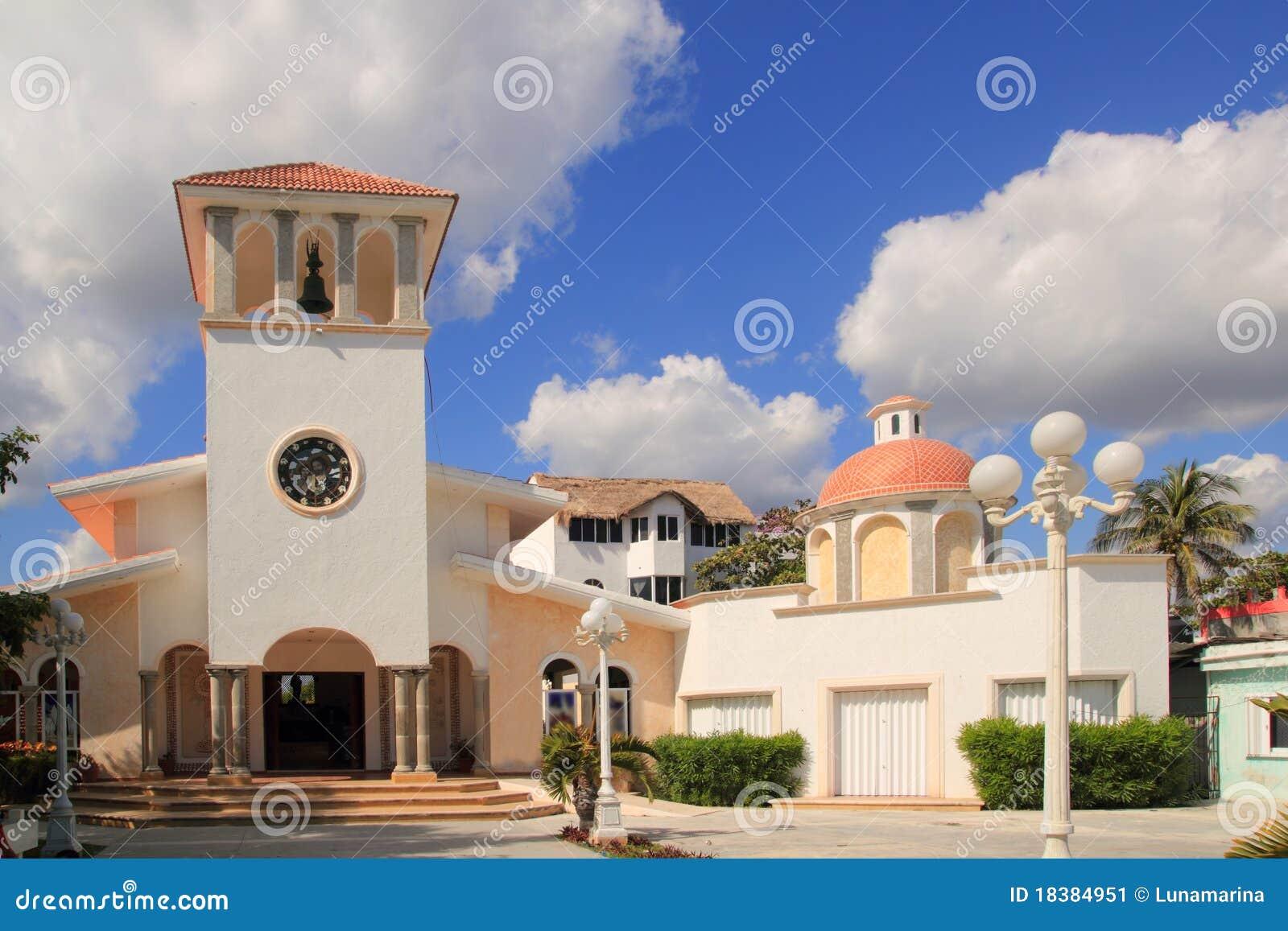 Iglesia Puerto Morelos México Riviera maya