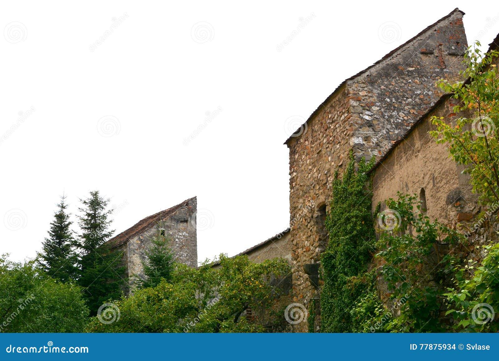 Iglesia Sajona Medieval Fortificada En Cristian Foto de archivo