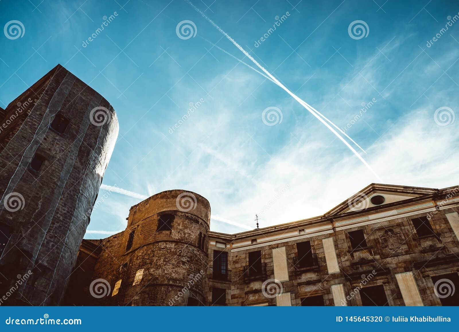 Iglesia vieja en el cuarto g?tico de Barcelona Tambi?n se llama como Barri Gotic