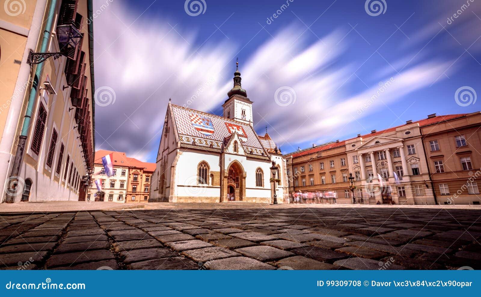 Iglesia Zagreb Croatia del ` s de St Mark