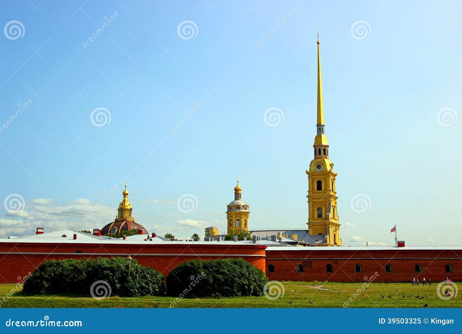 Iglica Peter i Paul forteca w St. Petersburg