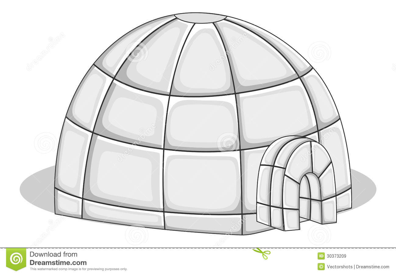 Igloo house vector illustration stock vector image 30373209 igloo house vector illustration pooptronica