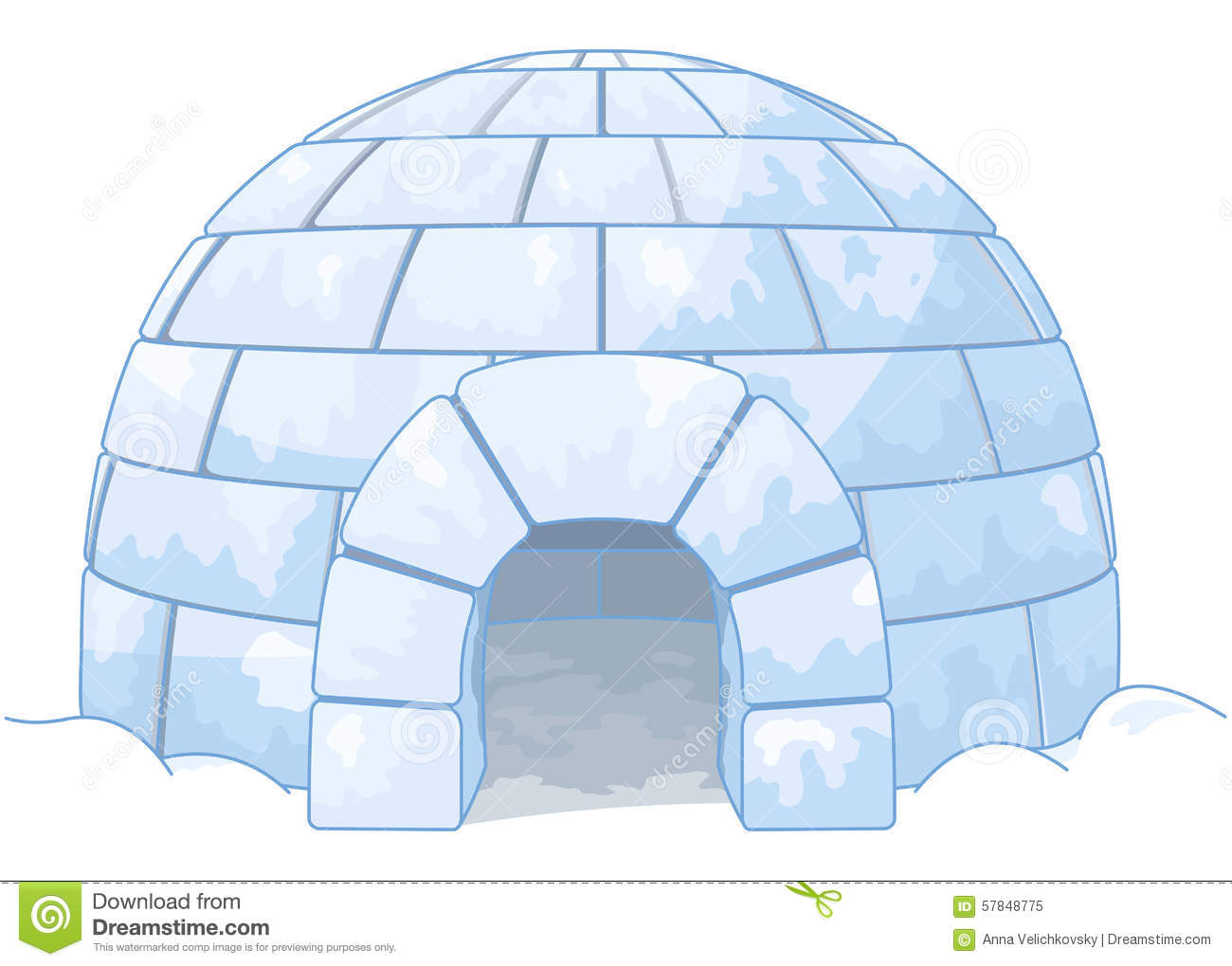 Igloo Stock Vector Image 57848775